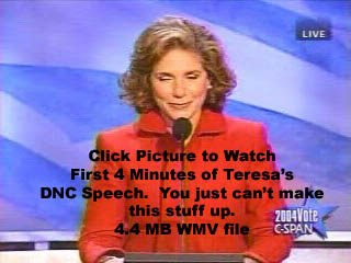 First 4 Minutes of Teresa's DNC Speech, 4.46 MB WMV Video