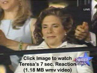 Watch Teresa's 7 Second Reaction Time at 2004 DNC
