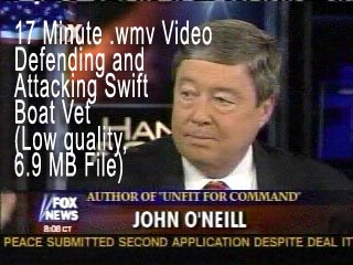 Click Image to view 6.9 MB low quality .wmv video of John O'Neill