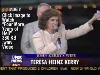 Click Image to Watch 380 KB .wmv Video of THK's famous 'Four More Years of Hell!' comment!