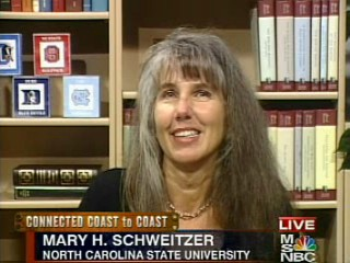 Click the Pic to download 11.4 MB .asf video of interview with Professor Mary H. Schweitzer